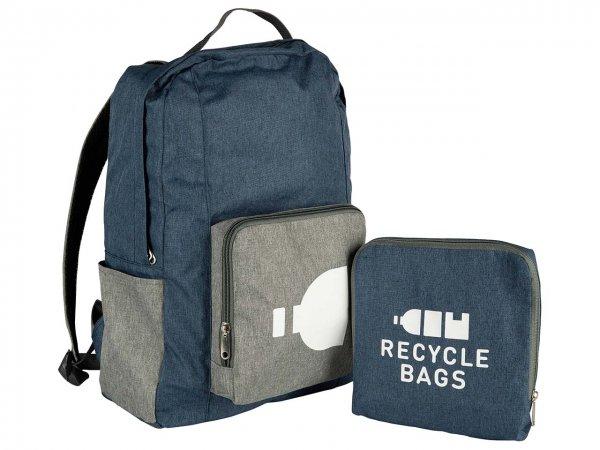 Ein günstiger Rucksack aus 100 & recycelten PET-Flaschen - der faltbare Rucksack 'Backpack'