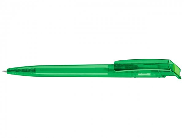 Das Rohmaterial des PET-Pens besteht aus recycelten PET-Flaschen